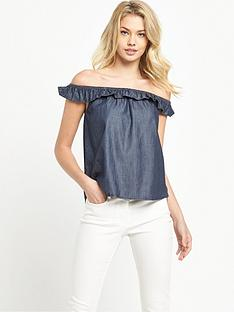 denim-supply-ralph-lauren-tiny-ruffle-blouse-rinse-wash
