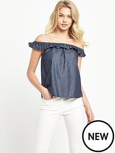 denim-supply-ralph-lauren-tiny-ruffle-blouse-rinse-wash