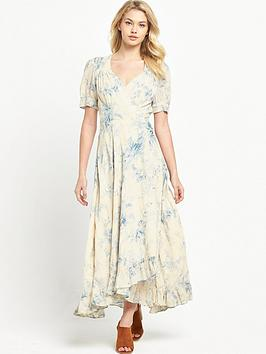 Denim & Supply  Ralph Lauren Wrap Tie Maxi Dress  Coral Harbour Floral