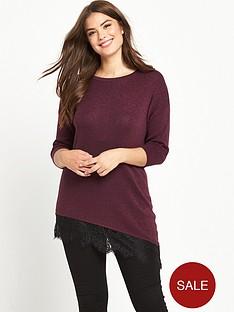 so-fabulous-lurex-lace-panel-assymetric-knit