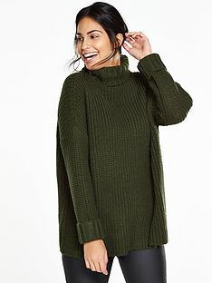 v-by-very-fluted-cuff-ribbed-jumpernbsp