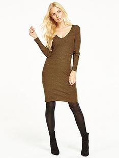 v-by-very-v-neck-ribbed-midi-dress