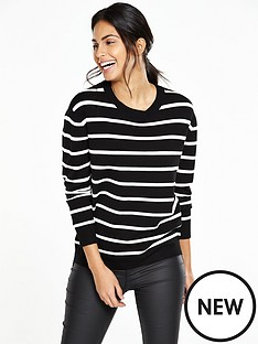 v-by-very-stripe-zip-detail-jumper
