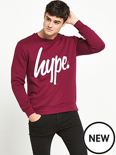 hype-logo-crew-sweat