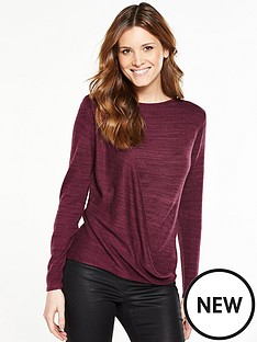 v-by-very-drape-front-twist-yarn-jumper