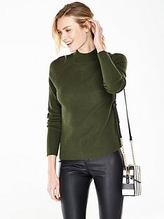 v-by-very-turn-up-cuff-jumper-with-mock-neck
