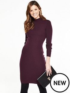 v-by-very-knitted-ribbed-bodycon-midi-dress