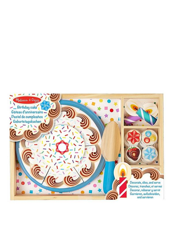 Superb Melissa Doug Wooden Birthday Cake Littlewoods Com Funny Birthday Cards Online Alyptdamsfinfo