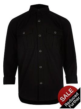 river-island-boys-black-military-oxford-shirt