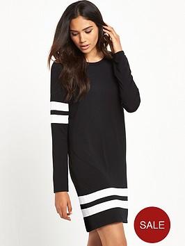 river-island-river-island-long-sleeved-stripe-sports-dress