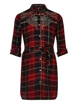 river-island-girls-red-check-stud-shirt-dress