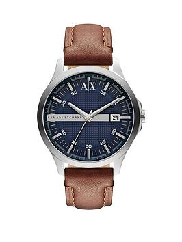 armani-exchange-blue-dial-tan-leather-strap-mens-watch