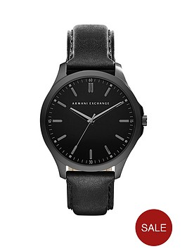 armani-exchange-black-dial-black-leather-strap-mens-watch