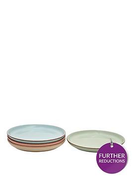 denby-always-entertaining-lsquodelirsquo-4-piece-medium-coupe-plate-set