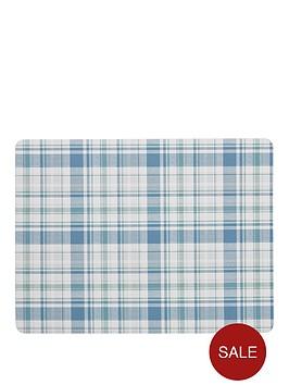 denby-denby-elements-checks-green-blue-6-piece-placemats