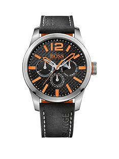 hugo-boss-hugo-boss-paris-black-dial-orange-accents-black-strap-mens-watch
