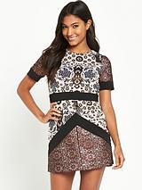 Jacquard A Line Dress