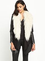 Faux Fur CollarFallaway Coat