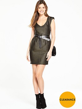 v-by-very-metallic-jacquard-dress