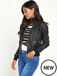 river-island-leather-look-bomber-jacket