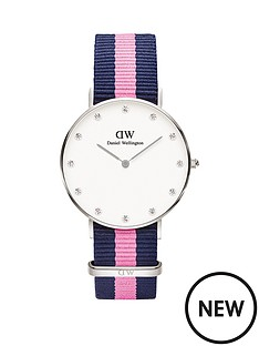daniel-wellington-daniel-wellington-classy-winchester-34mm-white-dial-blue-and-pink-strap-watch