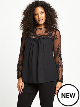 so-fabulous-curve-lace-sleeve-and-yoke-blouse-black