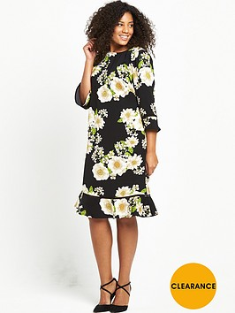 v-by-very-curve-curve-printed-drop-hem-shift-dress-black-base-floral