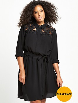 v-by-very-curve-curve-lace-yoke-shirt-dress-black