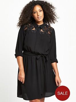 v-by-very-curve-curve-lace-yoke-shirt-dress-black