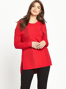 so-fabulous-curve-airtexnbspcold-shoulder-fine-knit-jumper-red