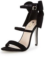 Gloss Heeled Barely There Sandal