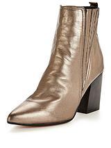 Slate Metallic Ankle Boot