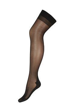 Ann Summers   Plain Top Seamed Stockings - Black