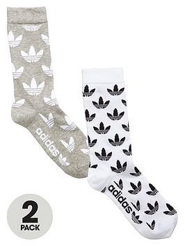Adidas Originals Adidas Originals Trefoil 2 Pack Crew Socks