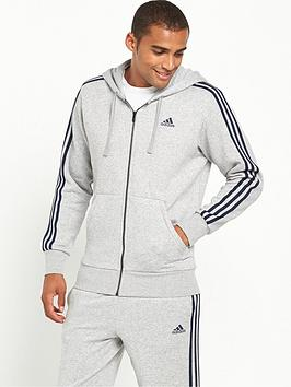 Adidas Essentials 3S Full Zip Up Hoodie