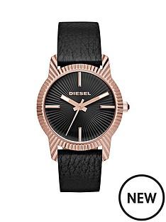 diesel-bitty-black-dial-rose-tone-case-leather-strap-ladies-watch
