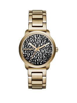 diesel-flare-rocks-stone-dial-gold-tone-bracelet-ladies-watch