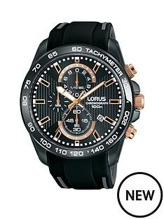 lorus-black-chronograph-black-silicone-strap-mens-watch