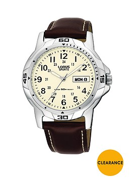 lorus-cream-daydate-dial-brown-leather-strap-mens-watch