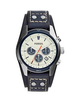 fossil-fossil-coachman-white-dial-chronograph-navy-leather-strap-mens-watch