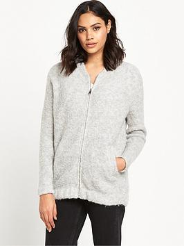 river-island-knitted-bomber-jacket-grey