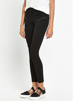 river-island-zip-ponte-legging