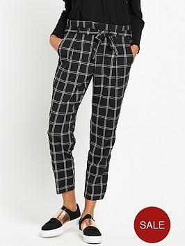 river-island-soft-tie-waist-check-trouser