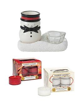 Yankee Candle Jackson Frost Tea Light Holder With 24 Tea Light Candles