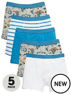 mini-v-by-very-boys-im-wild-trunks-5-pack