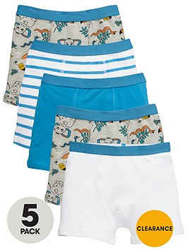 mini-v-by-very-boys-im-wild-trunks-5-pack