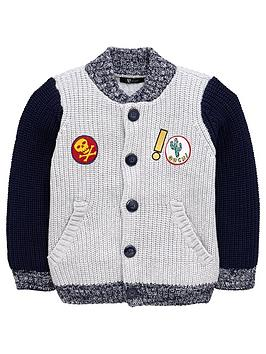 Mini V By Very Boys Baseball Badge Cardigan