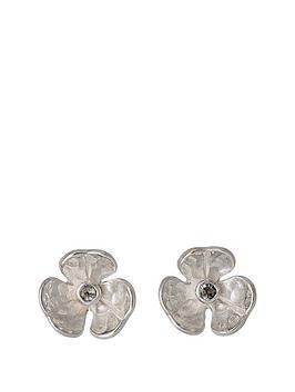 pilgrim-silver-plated-mini-flower-stud-earring