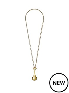 pilgrim-gold-plated-polished-teardrop-2-in-1-necklace