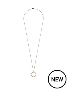 pilgrim-rose-gold-plated-crystal-ring-necklace